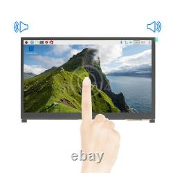 10.1 IPS LCD Display Touch Screen Monitor with Speaker Bracket for Raspberry Pi
