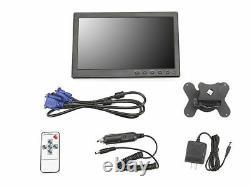 10.1 TFT LCD Display USB/HDMI/RCA/VGA/BNC HD CCTV Security Monitor PC Screen