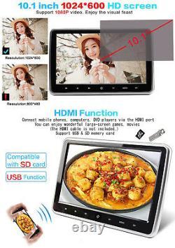 10.1 Ultra Thin HD LCD Car Headrest DVD Player FM/USB/SD/HDMI Display Monitor