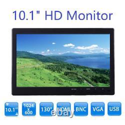 10 TFT LCD Display Monitor VGA BNC Audio HDMI Video For PC Security CCTV Camera