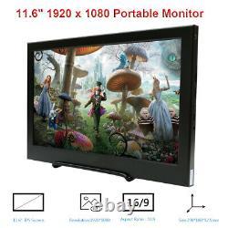 11.6 Portable Monitor 1920X1080 Display for Raspberry Pi PS3 P34 XBOX 360 Mac