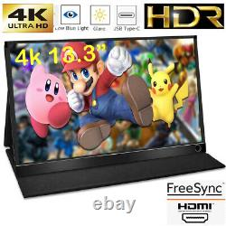 13.3 IPS 4K Portable Display Computer External LCD Screen for PS4/Switch 60Hz