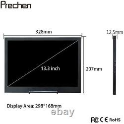 13.3 inch Portable Monitor HDMI 1080P IPS LCD Display for Raspberry Pi PS3 PS4