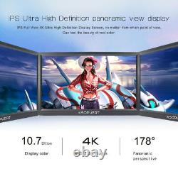 15.6inch 4K IPS LCD Monitor 2 HDMI Mini DP Video Input LCD Display Panel+Bracket