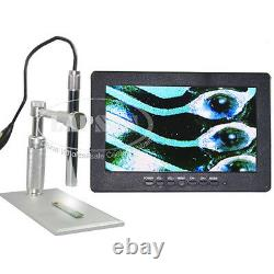 200X Digital Microscope Endoscope AV Video TV Camera + 7 LCD Monitor Display AU
