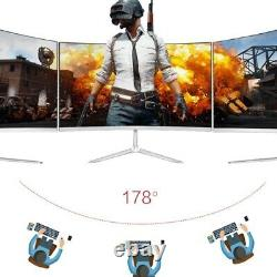 24/27 Inch Curved Gaming Monitor Big LED Screen 75Hz HD Display Ultrawide LCD PC