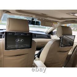 2PCS Car Headrest DVD LCD Android Display Screen TV Monitor For Hyundai Santa Fe