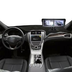 4.3 LCD Monitor+Backup Camera+Bracket Dual Screen Split Display Reverse Image