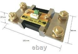 500A Battery Monitor Caravan RV LCD Alarm Tester Power Display Voltage Ah