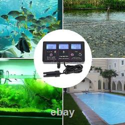 6-in-1 Water Quality Monitor PH/TEMP/EC/CF/ORP/TDS Tester Meter LCD Display