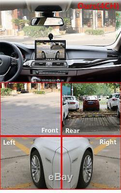 7 4 Split Quad Video Display TFT LCD Car Rear View Monitor+4Pcs 170° HD Cameras
