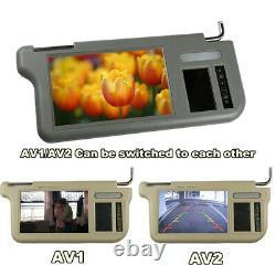 7 Gray Car Sun Visor Mirror Display LCD Monitor Left+Right For Parking Camera