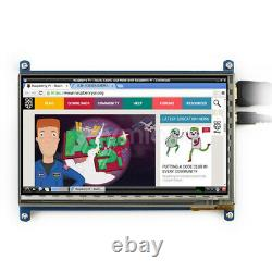 7 IPS LCD Display HDMI Capacitive Touch Screen 1024x600 + Case For Raspberry Pi