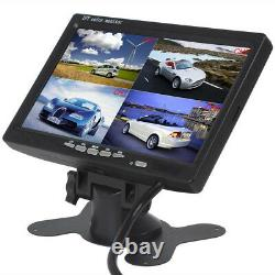 7 Inch Color TFT LCD 4 Split Video Display Monitor For Bus With 4Reversing Camera