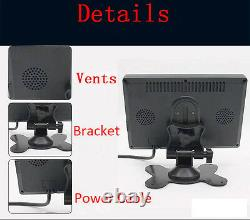 7 Inch HD 4 Split Quad Video Display TFT LCD Car Rear View Monitor 4 Video Input