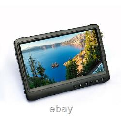 7 inch 1080P portable built in dvr monitor display with video recording