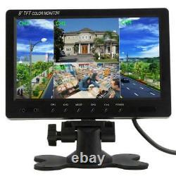 9 Inch HD 4 Video Input 4 Split Quad Video Display TFT LCD Car Rear View Monitor
