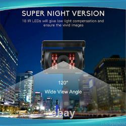 9 Quad Split Monitor Screen Display+4X Rear View Backup Camera For Bus Truck RV