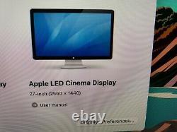 APPLE 27 LED CINEMA DISPLAY MONITOR LCD MC007LL/A A1316 2560 x 1440+ FREE SHIP