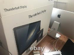 BARELY USED APPLE 27 THUNDERBOLT WIDESCREEN DISPLAY MC914LL/B A1407 2560x1440