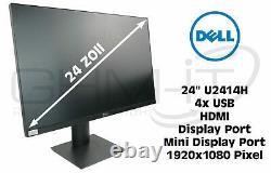 Dell U2414H 24 TFT Monitor Full-HD 1920 x 1080 VGA HDMI DisplayPort USB-Hub