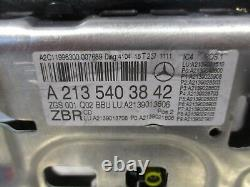 E W213 Speedometer Monitor Display LCD Nav Sat A2135403842 Rhd Mph Mercedes