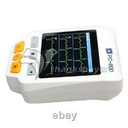 Easy ECG PC-80D Portable ECG Monitor Machine Three Channels with 3.5 LCD Display