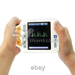 Easy ECG PC-80D Portable ECG Monitor Machine with 3.5 TFT Color LCD Display #
