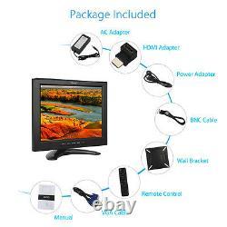 Eyoyo 12LCD TFT Screen Display HD Monitor VGA HDMI BNC AV USB For Security CCTV