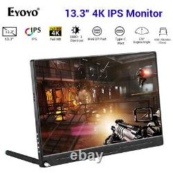 Eyoyo 13.3 4K IPS HDMI Monitor 3840x2160 178 Degree LCD Display for Smart Phone