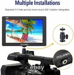 Feelworld FW703 7 inch 3G SDI 4K HDMI Camera Field Monitor, Full HD 1920x1200