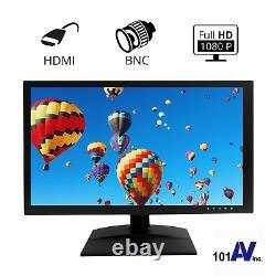 Full HD 18.5 Surveillance Security Monitor LED LCD Display HDMI Looping BNC