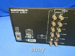 Marshall M-LYNX-702 Dual 7 HDMI, 3G-SDI Rackmount Monitor with1 screen bad, 1 good