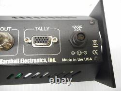 Marshall V-R44P Rack Mount 4 screen LCD Video Monitor Display System Needs 12V