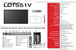 Mitsubishi LDT551V 55 Wide LCD Commercial Display 1080p 1920x1080 NEW D2010 NFS