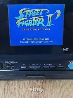 NEC PC Engine DUO Monitor PI-LM1 NTSC LCD Display + AC Adapter PCE Japan