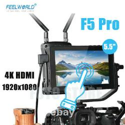 New FEELWORLD F5 Pro Monitor 5.5 Inch 4K HDMI 1920x1080 Video On Camera Fr DSLR