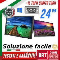 PC MONITOR SCHERMO GAMING LCD LED 24 POLLICI 169 FULL HD 1080p DVI VGA DISPLAY