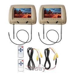 Paar 7'' LCD Display Digital Monitor Screen Auto Kopfstütze MP5 DVD Video D