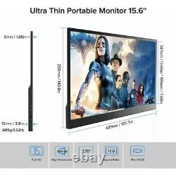 Portable Monitor, Uperfect 15.6 Game Display LCD 1920×1080 Resolution IPS 169