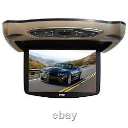 Pyle PLRD146 13.3 Car Overhead LCD Screen Display Monitor, DVD Player, USB/SD