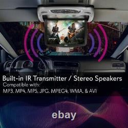 Pyle PLRD146 13.3 Car Overhead LCD Screen Display Monitor, DVD Player, USB/SD