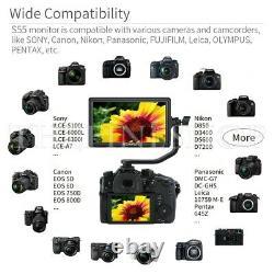Quality 5.5 DSLR Camera Monitor 4K HDMI LCD IPS HD Display for Nikon Sony Canon