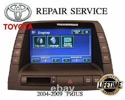 REPAIR SERVICE for TOYOTA PRIUS NAVIGATION RADIO MONITOR DISPLAY LCD 2004 2009
