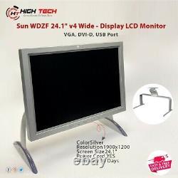 Sun WDZF 24.1 v4 Wide-Display LCD Monitor VGA, DVI-D, USB Port Free Postage