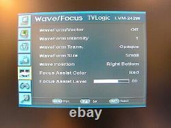 TVLogic LVM-242W 24 Full HD Multi-Format Broadcast Monitor