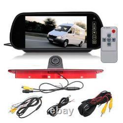 Third Brake Rear Camera Light and Monitor with 7 Display for Mercedes Sprinter